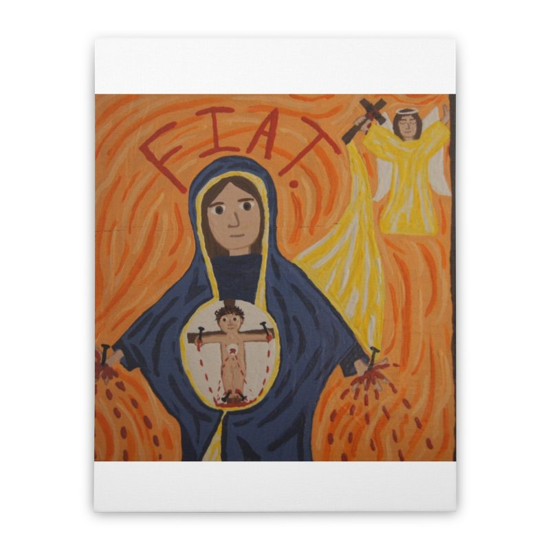 Annunciation Home Stretched Canvas by Mary Kloska Fiat's Artist Shop