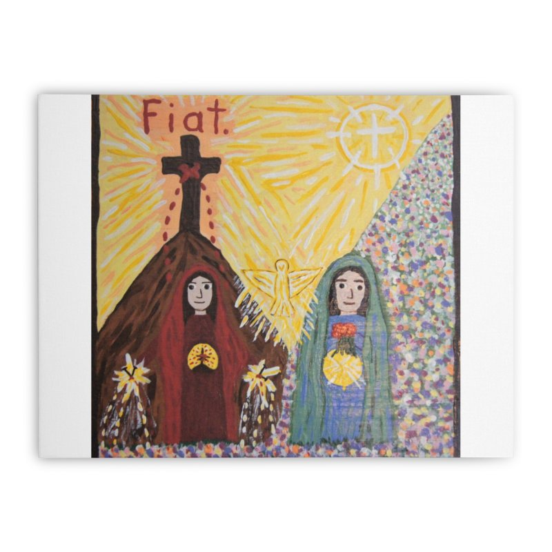 Visitation Home Stretched Canvas by Mary Kloska Fiat's Artist Shop