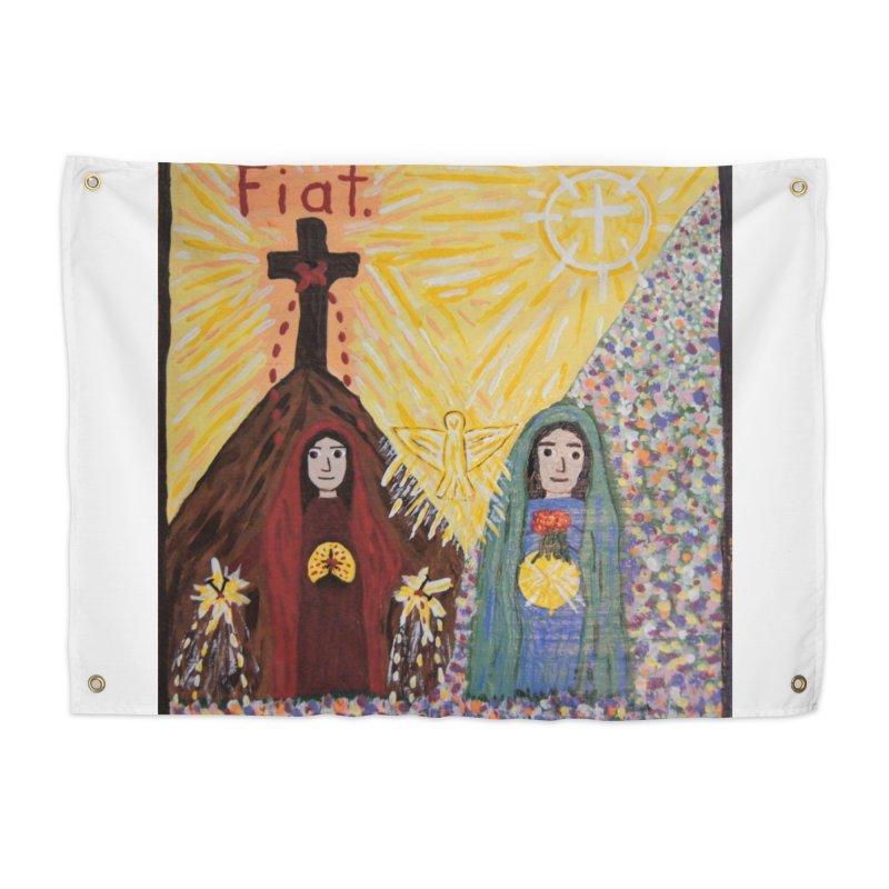 Visitation Home Tapestry by Mary Kloska Fiat's Artist Shop