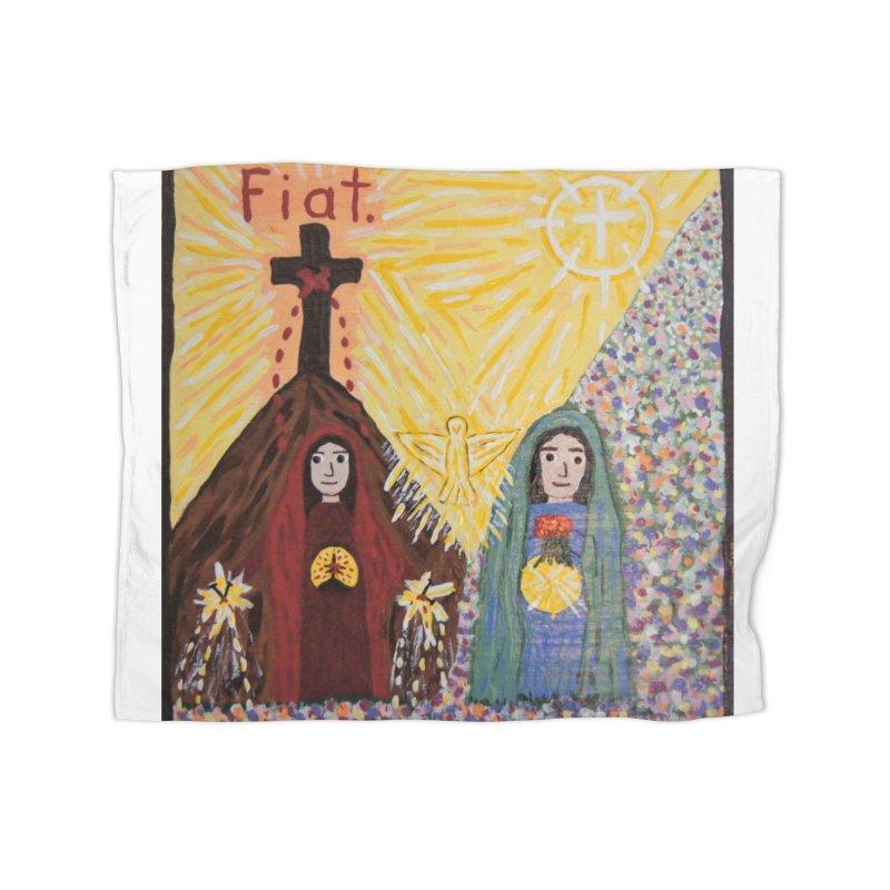 Visitation Home Blanket by Mary Kloska Fiat's Artist Shop