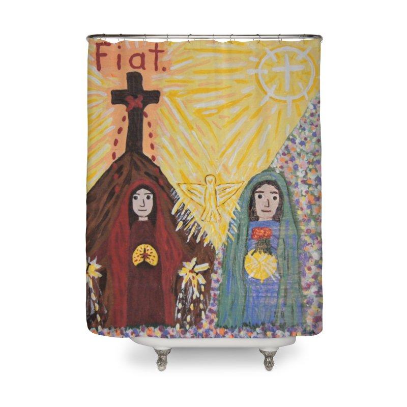 Visitation Home Shower Curtain by Mary Kloska Fiat's Artist Shop