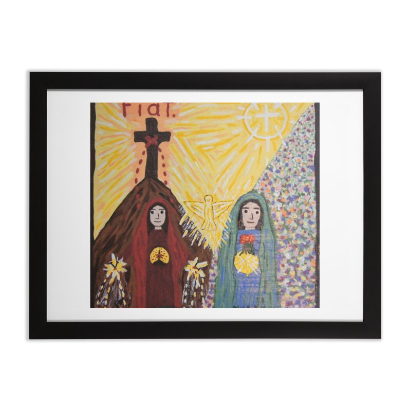 Visitation Home Framed Fine Art Print by Mary Kloska Fiat's Artist Shop