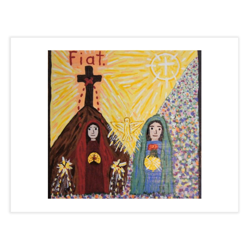 Visitation Home Fine Art Print by Mary Kloska Fiat's Artist Shop