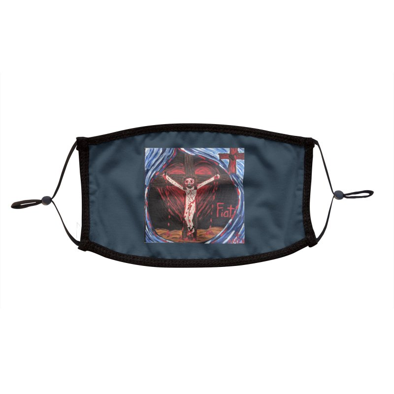 Crucifixion Accessories Face Mask by Mary Kloska Fiat's Artist Shop