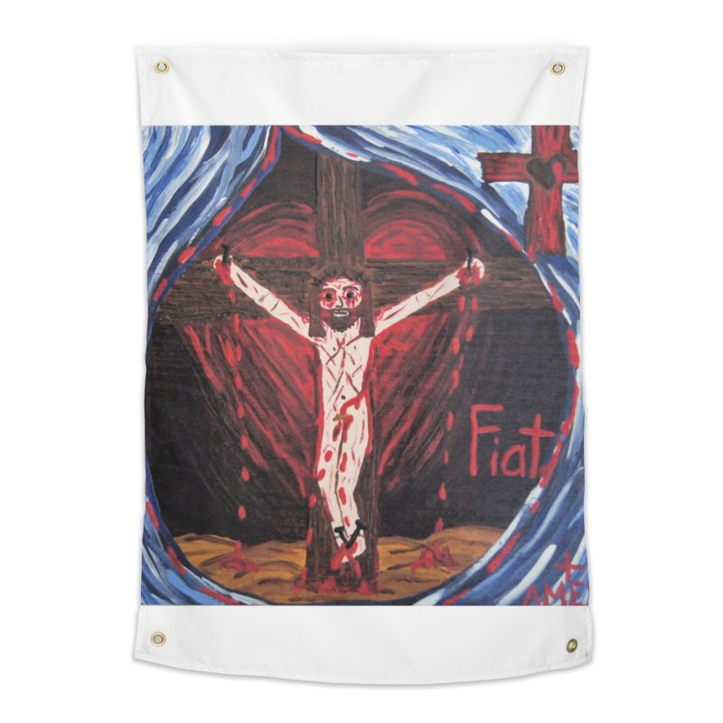 Crucifixion Home Tapestry by Mary Kloska Fiat's Artist Shop