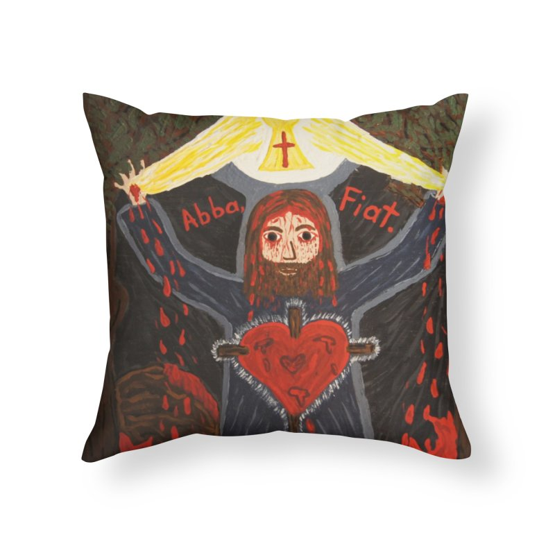 Gethsemane Home Throw Pillow by Mary Kloska Fiat's Artist Shop