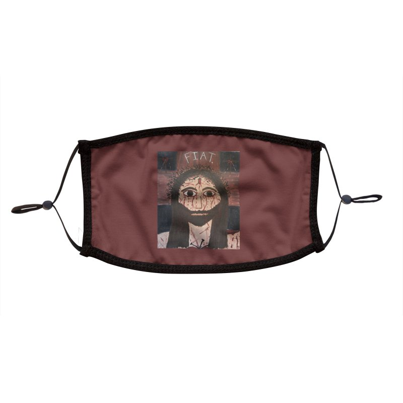 Holy Face Accessories Face Mask by Mary Kloska Fiat's Artist Shop