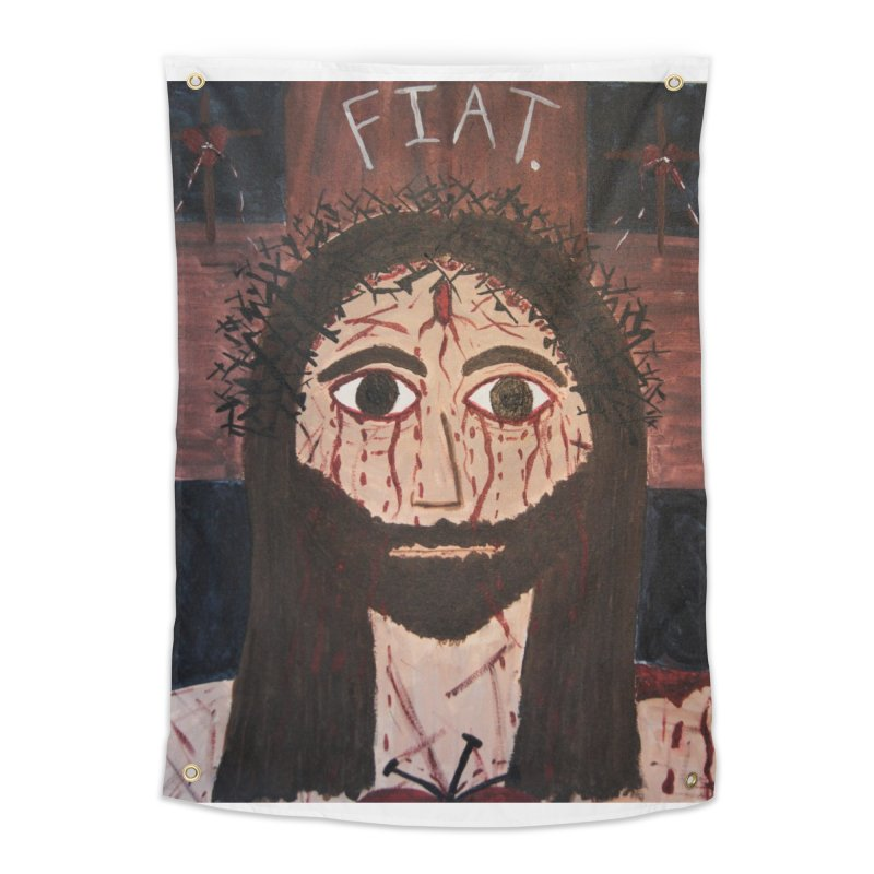 Holy Face Home Tapestry by Mary Kloska Fiat's Artist Shop