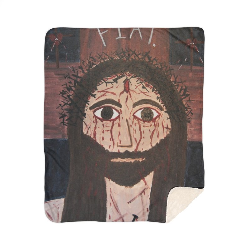 Holy Face Home Blanket by Mary Kloska Fiat's Artist Shop