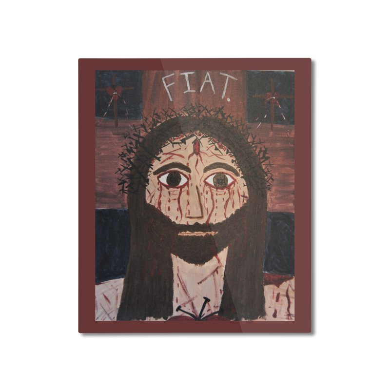 Holy Face Home Mounted Aluminum Print by Mary Kloska Fiat's Artist Shop