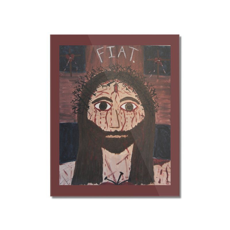 Holy Face Home Mounted Acrylic Print by Mary Kloska Fiat's Artist Shop