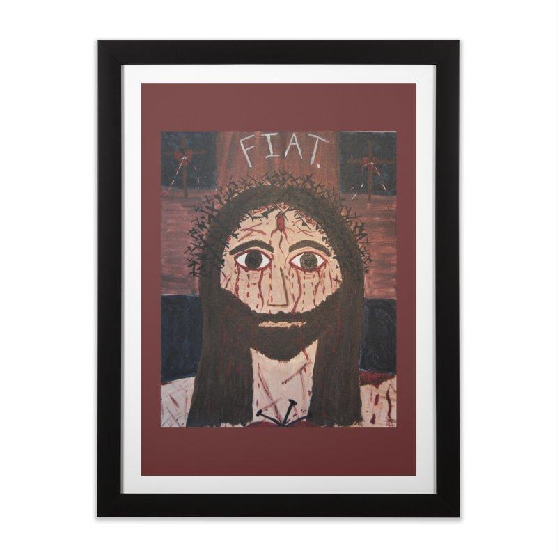 Holy Face Home Framed Fine Art Print by Mary Kloska Fiat's Artist Shop