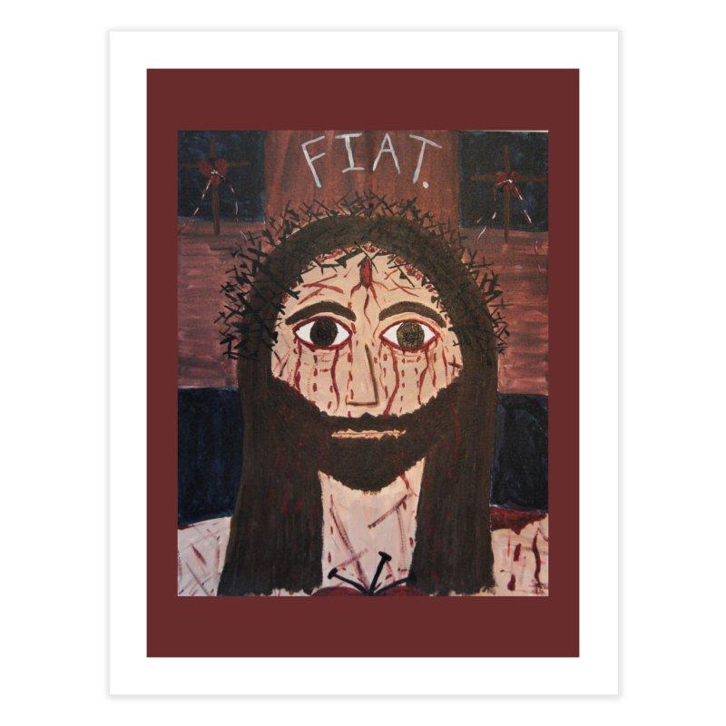 Holy Face Home Fine Art Print by Mary Kloska Fiat's Artist Shop