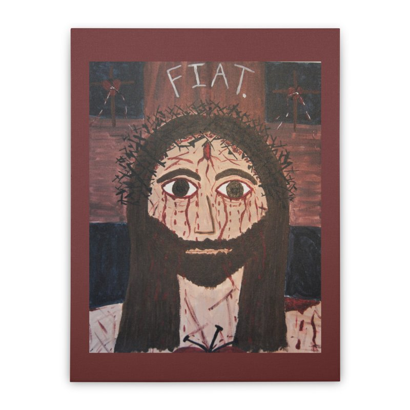 Holy Face Home Stretched Canvas by Mary Kloska Fiat's Artist Shop