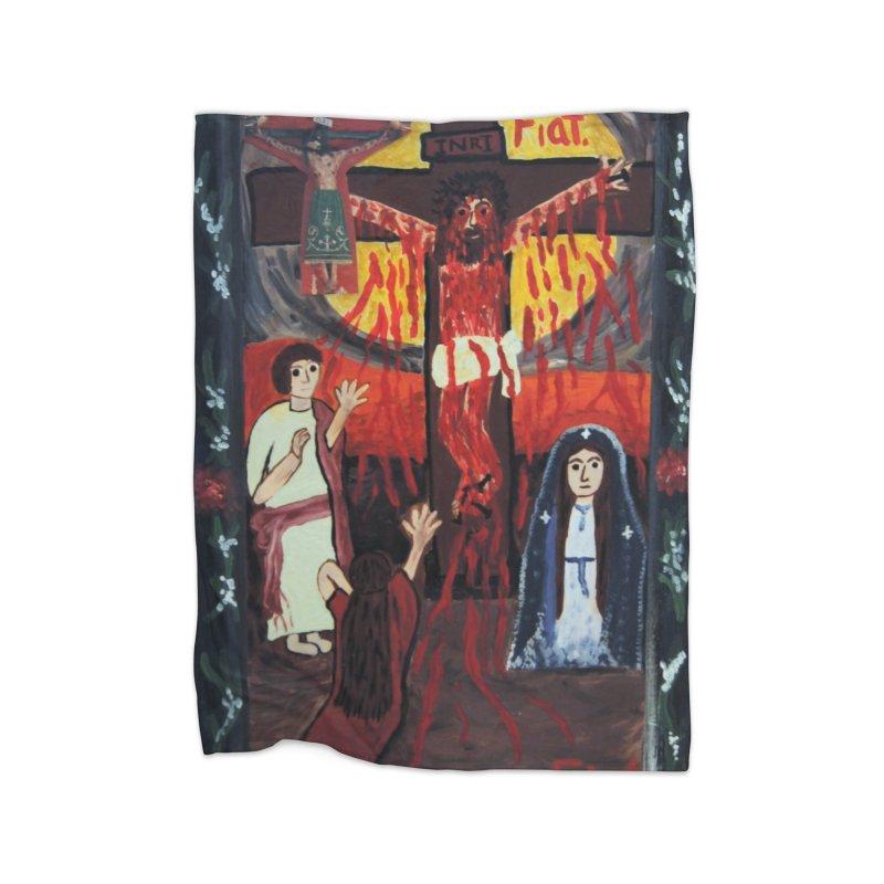 Golgatha Home Blanket by Mary Kloska Fiat's Artist Shop