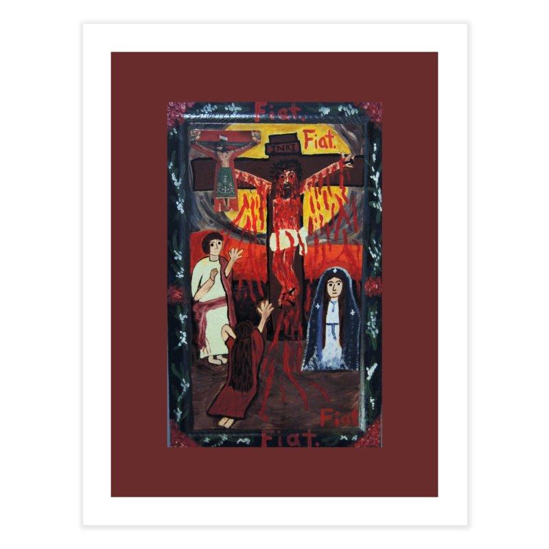 Golgatha Home Fine Art Print by Mary Kloska Fiat's Artist Shop