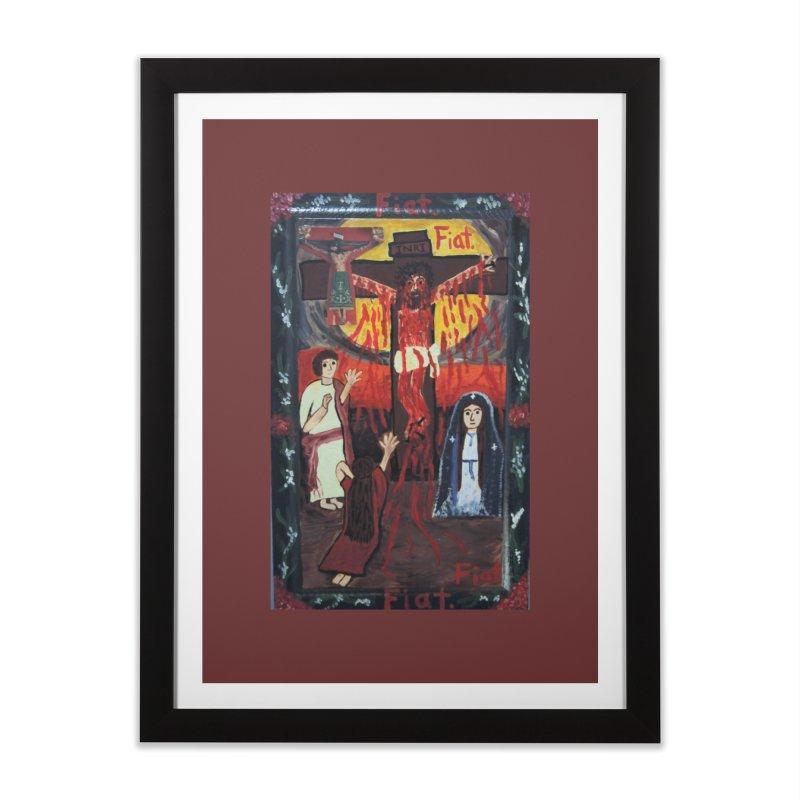 Golgatha Home Framed Fine Art Print by Mary Kloska Fiat's Artist Shop