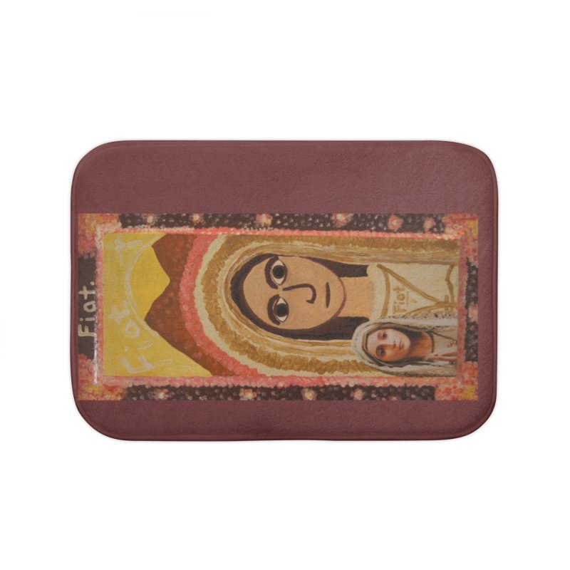 Our Lady of Fatima -Morning Glory Home Bath Mat by Mary Kloska Fiat's Artist Shop