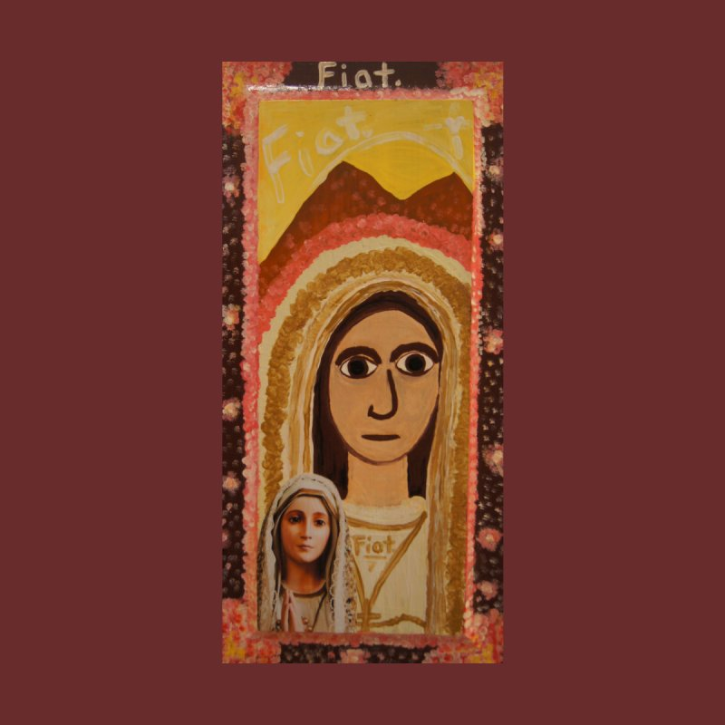 Our Lady of Fatima -Morning Glory Home Throw Pillow by Mary Kloska Fiat's Artist Shop