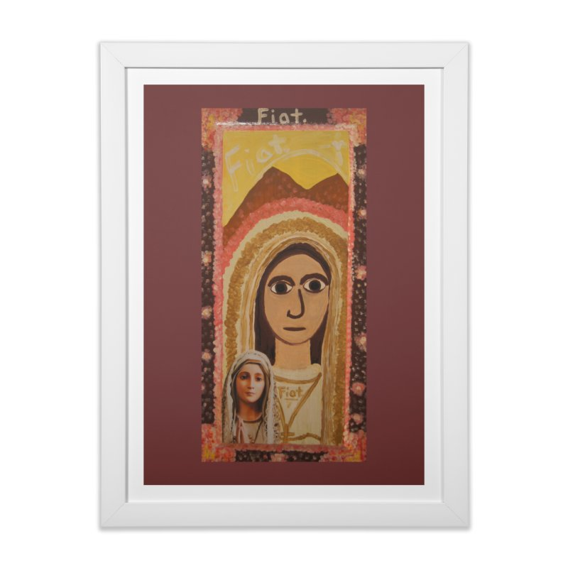 Our Lady of Fatima -Morning Glory Home Framed Fine Art Print by Mary Kloska Fiat's Artist Shop