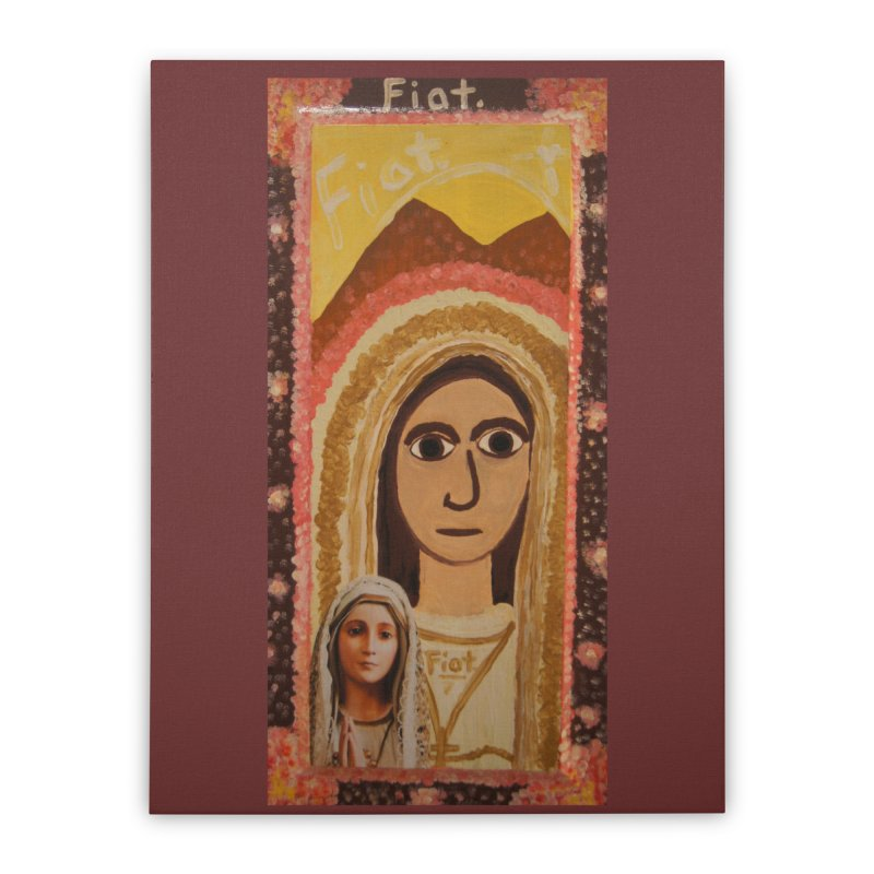 Our Lady of Fatima -Morning Glory Home Stretched Canvas by Mary Kloska Fiat's Artist Shop