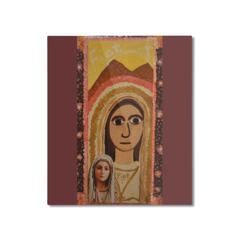 Our Lady of Fatima -Morning Glory Home Mounted Aluminum Print by Mary Kloska Fiat's Artist Shop