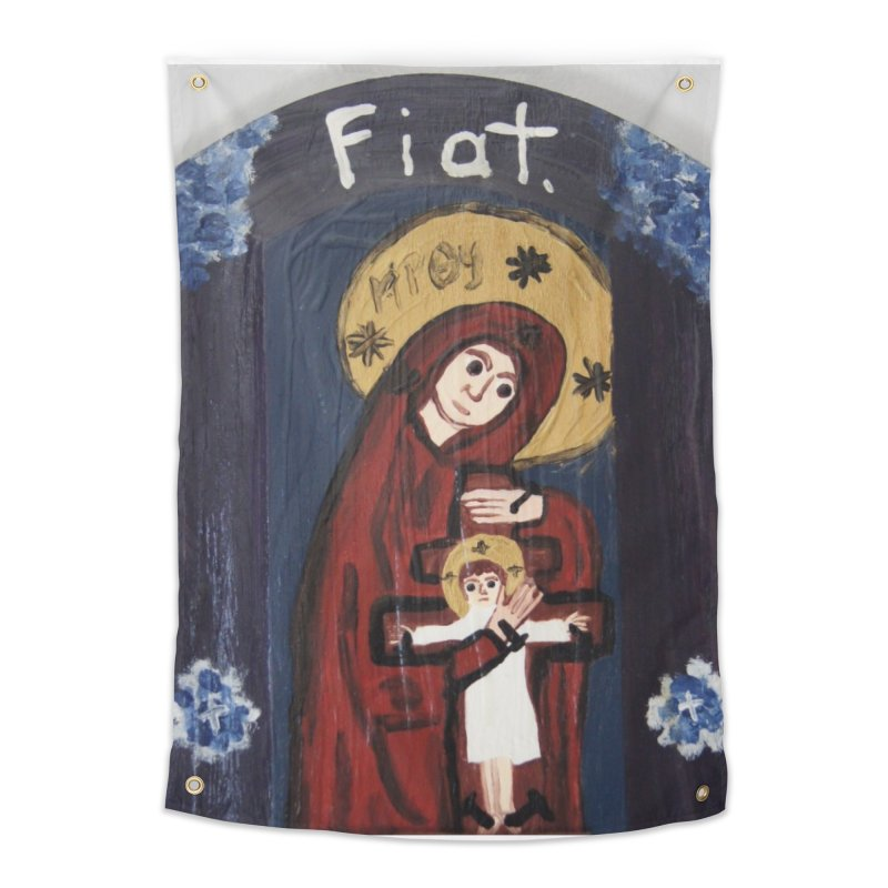 Mother of The Crucified Child Home Tapestry by Mary Kloska Fiat's Artist Shop