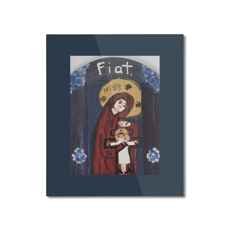 Mother of The Crucified Child Home Mounted Aluminum Print by Mary Kloska Fiat's Artist Shop