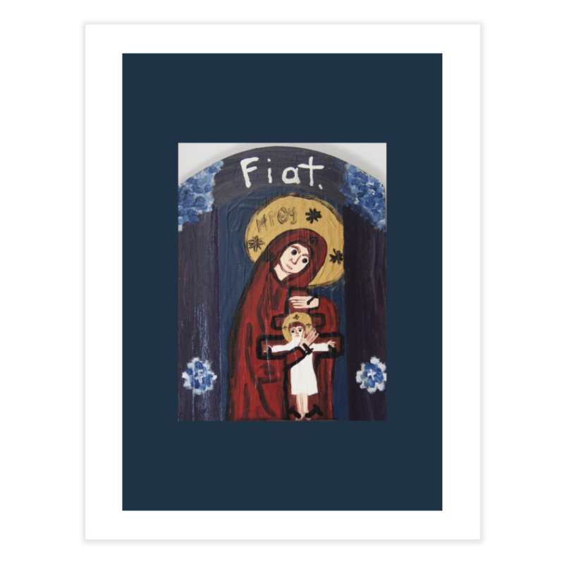 Mother of The Crucified Child Home Fine Art Print by Mary Kloska Fiat's Artist Shop
