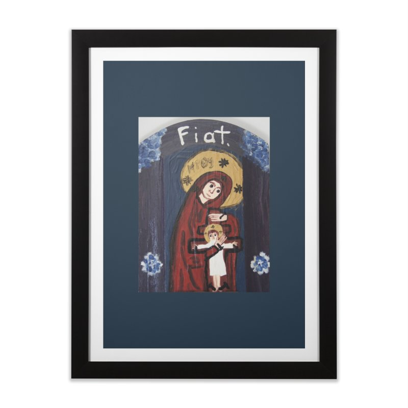 Mother of The Crucified Child Home Framed Fine Art Print by Mary Kloska Fiat's Artist Shop