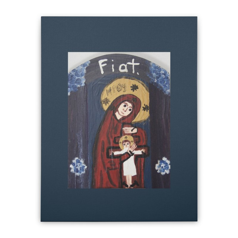 Mother of The Crucified Child Home Stretched Canvas by Mary Kloska Fiat's Artist Shop