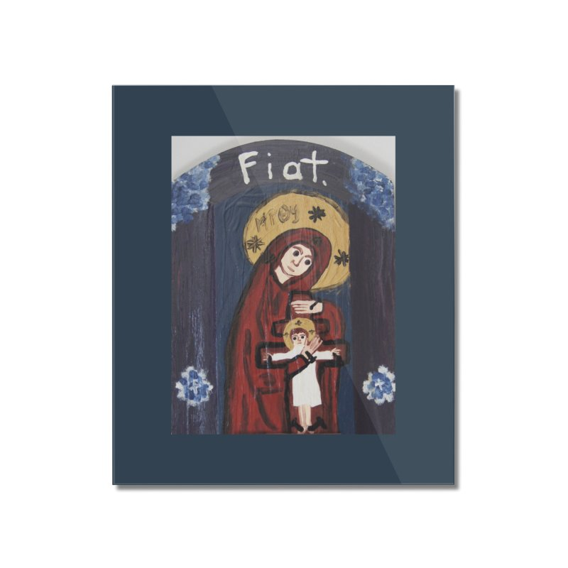Mother of The Crucified Child Home Mounted Acrylic Print by Mary Kloska Fiat's Artist Shop