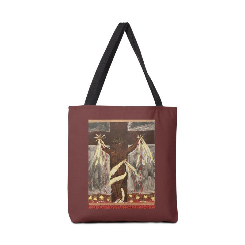 African Jesus Crucified -for John Martin Kloska Accessories Bag by Mary Kloska Fiat's Artist Shop