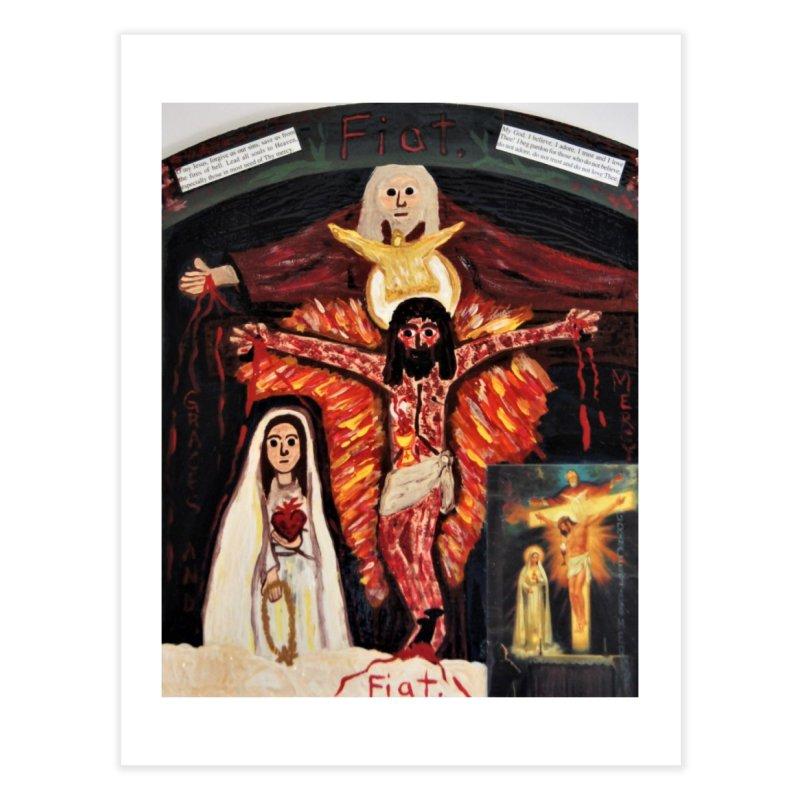 Most Holy Trinity Cross -Fatima Vision Home Fine Art Print by Mary Kloska Fiat's Artist Shop