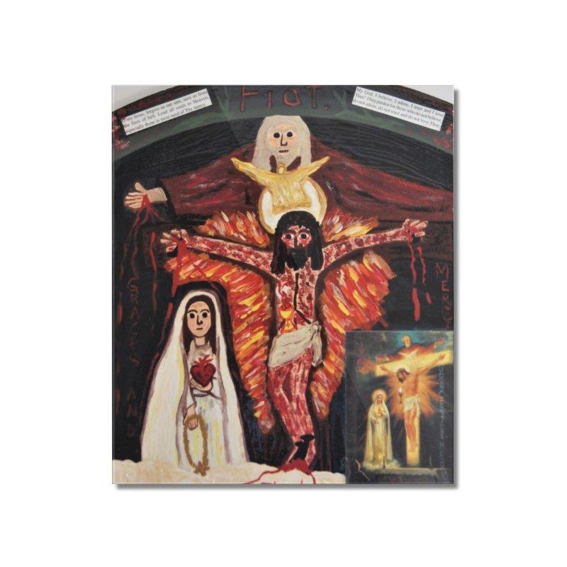 Most Holy Trinity Cross -Fatima Vision Home Mounted Acrylic Print by Mary Kloska Fiat's Artist Shop