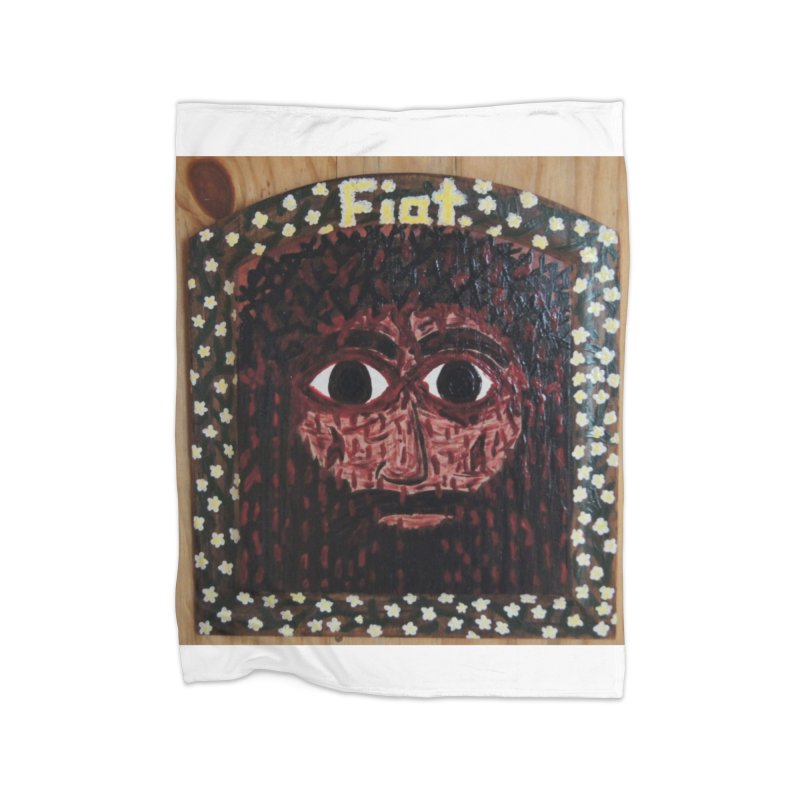 Face of the Passion Home Blanket by Mary Kloska Fiat's Artist Shop