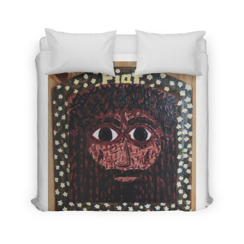 Face of the Passion Home Duvet by Mary Kloska Fiat's Artist Shop