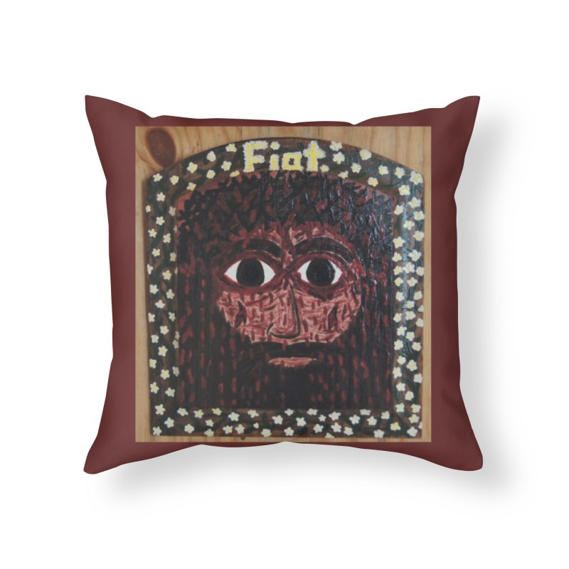 Face of the Passion Home Throw Pillow by Mary Kloska Fiat's Artist Shop