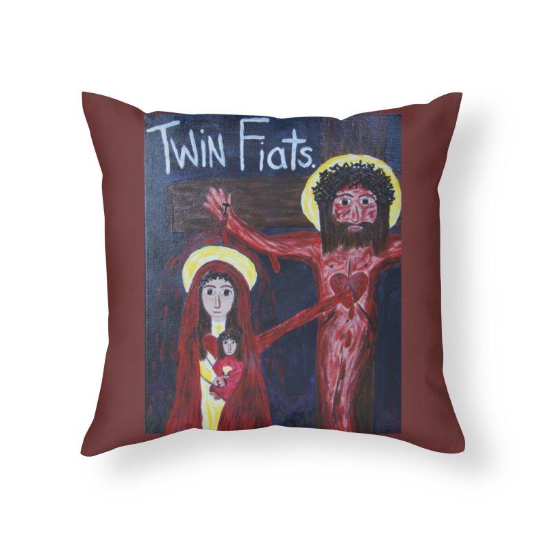 Twin Fiats Home Throw Pillow by Mary Kloska Fiat's Artist Shop