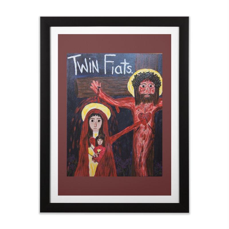 Twin Fiats Home Framed Fine Art Print by Mary Kloska Fiat's Artist Shop