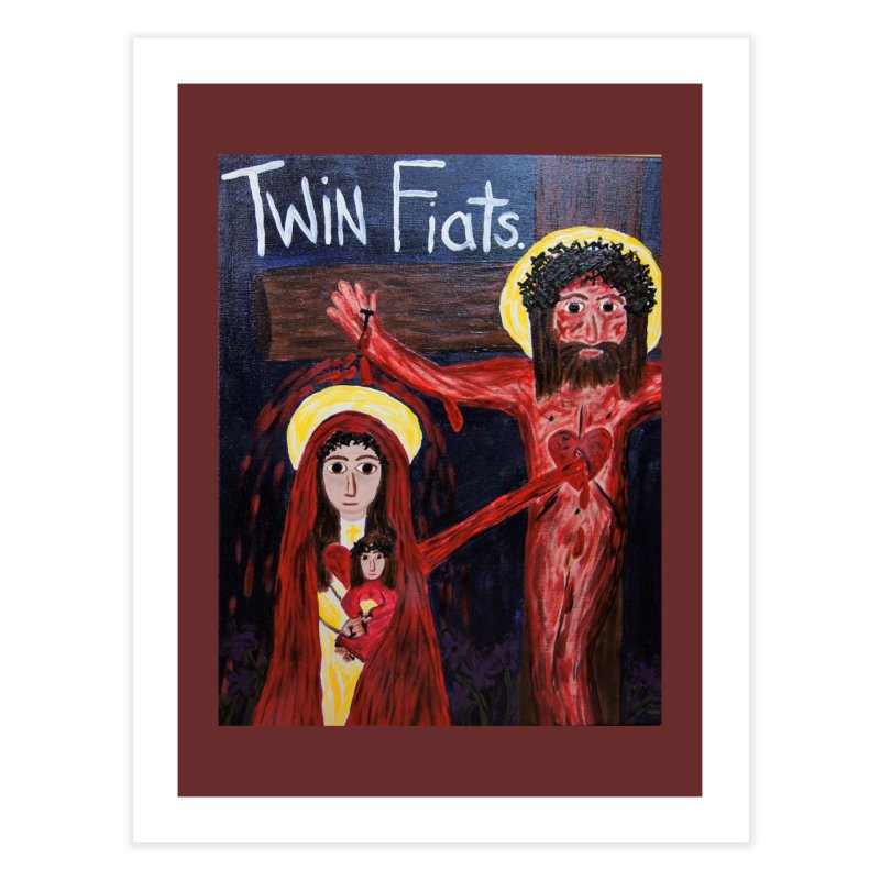 Twin Fiats Home Fine Art Print by Mary Kloska Fiat's Artist Shop