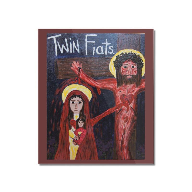 Twin Fiats Home Mounted Acrylic Print by Mary Kloska Fiat's Artist Shop