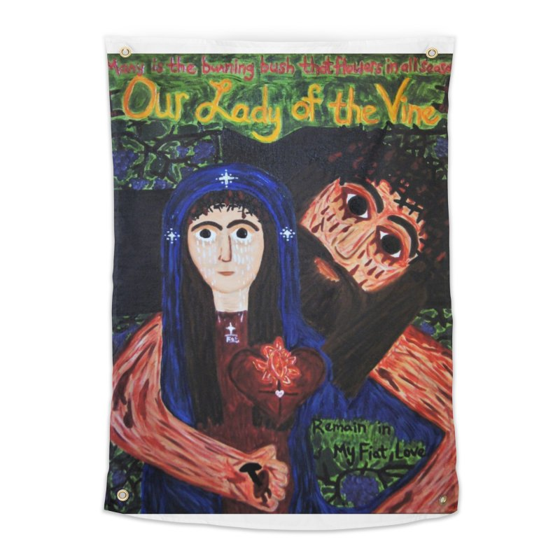 Our Lady of the Vine Home Tapestry by Mary Kloska Fiat's Artist Shop
