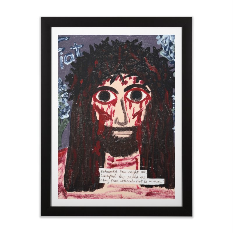 Exhausted You Sought Me Home Framed Fine Art Print by Mary Kloska Fiat's Artist Shop