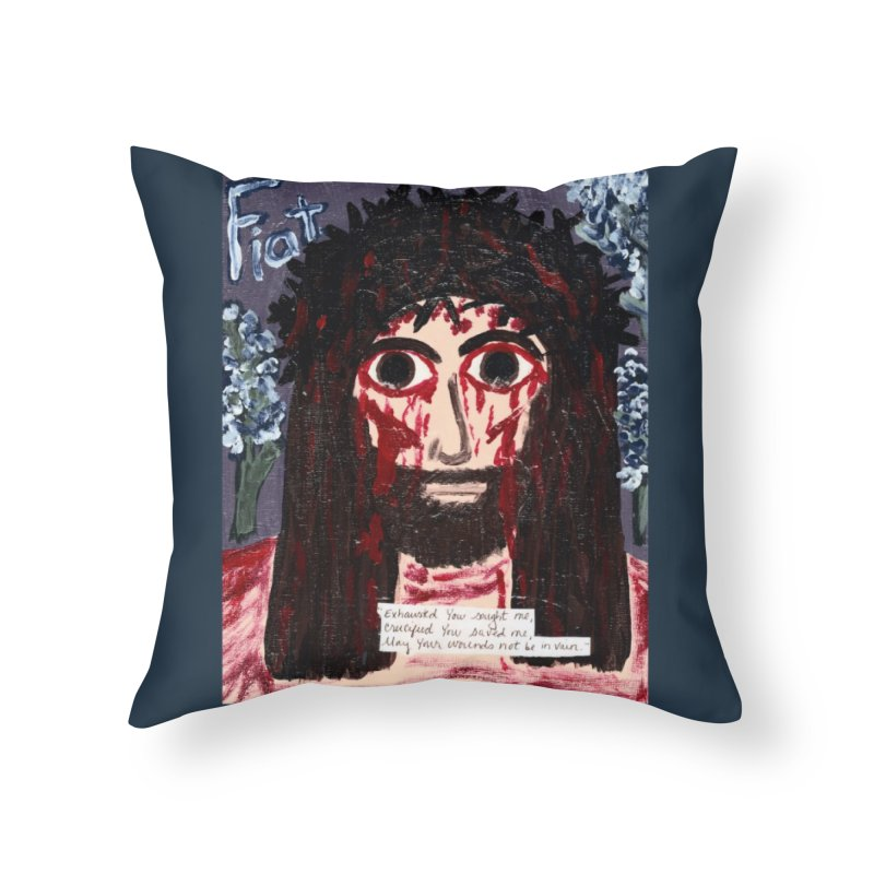 Exhausted You Sought Me Home Throw Pillow by Mary Kloska Fiat's Artist Shop