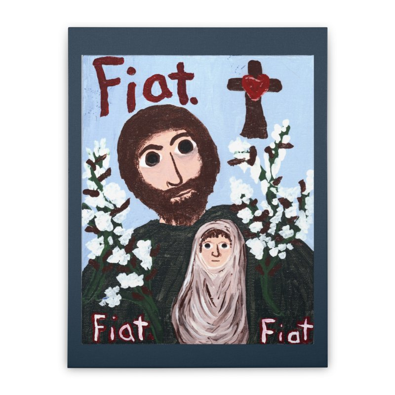 St. Joseph Home Stretched Canvas by Mary Kloska Fiat's Artist Shop