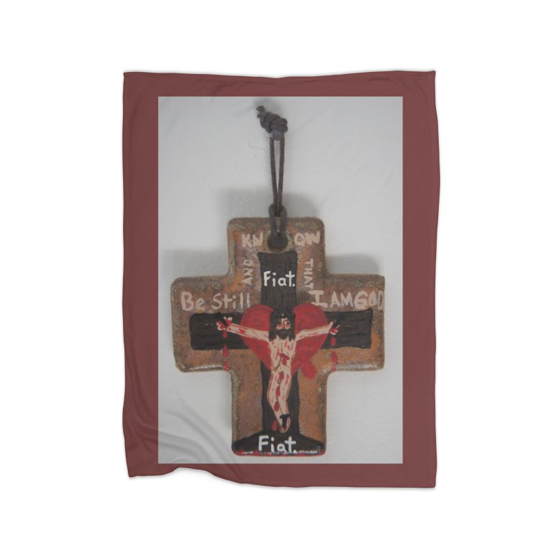 Be Still and Know that I am God Cross Home Blanket by Mary Kloska Fiat's Artist Shop