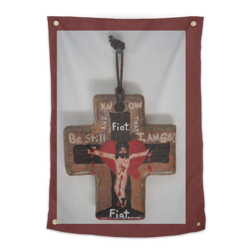 Be Still and Know that I am God Cross Home Tapestry by Mary Kloska Fiat's Artist Shop