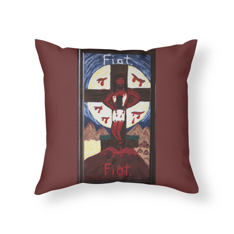 Indwelling Eucharistic Love Home Throw Pillow by Mary Kloska Fiat's Artist Shop