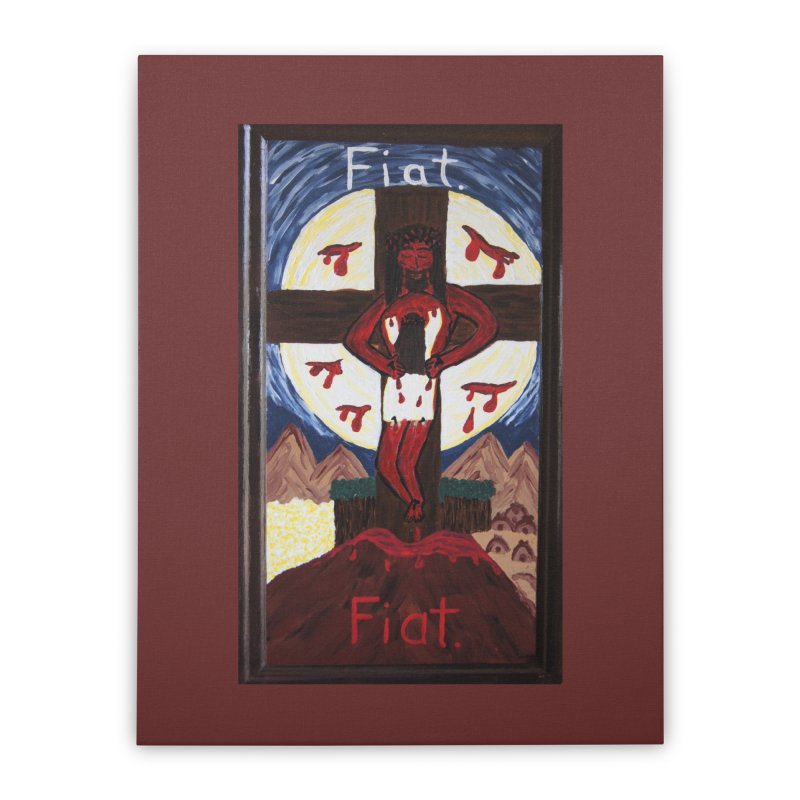 Indwelling Eucharistic Love Home Stretched Canvas by Mary Kloska Fiat's Artist Shop